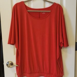 """Red Short Sleeve Blouse """"Like New"""""""
